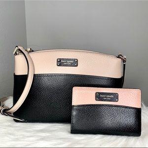 Kate Spade Jeanne Leather Crossbody / Wallet Set